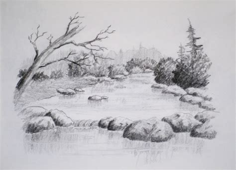 online art class intro to landscape drawing paint