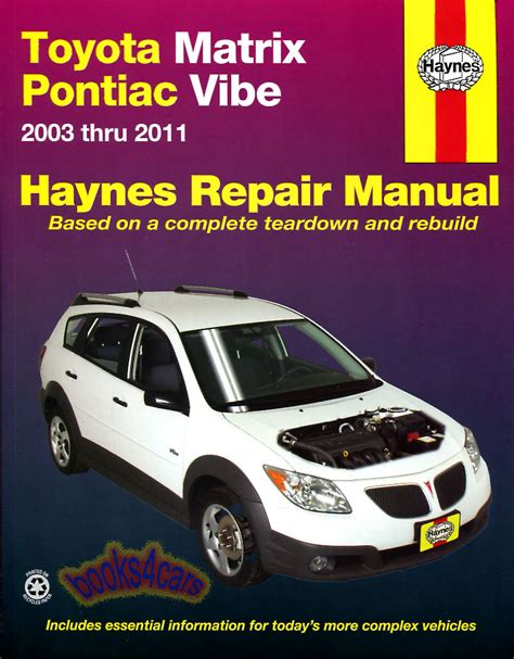 car repair manual download 2010 pontiac vibe lane departure warning toyota manuals at books4cars com