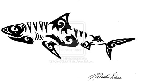 tiger shark tattoo designs tribal tiger shark