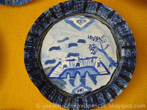 youtube willow pattern story use your coloured pencils willow pattern paper plates