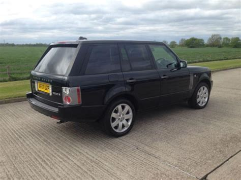 land rover 2007 black 2007 land rover range rover vogue se a black
