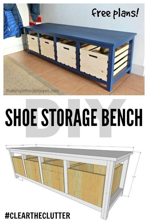 shoe storage plans diy shoe storage bench free plans scrapworklove
