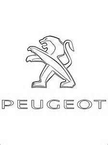 peugeot logo coloring coloring pages