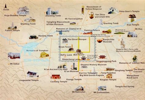 map of tourist attractions 2 list of the most popular xian things to do and xian