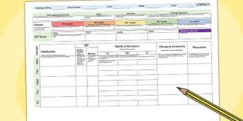 Literacy Lesson Plan Template by Literacy Weekly Planning Template Lesson Plan Plans