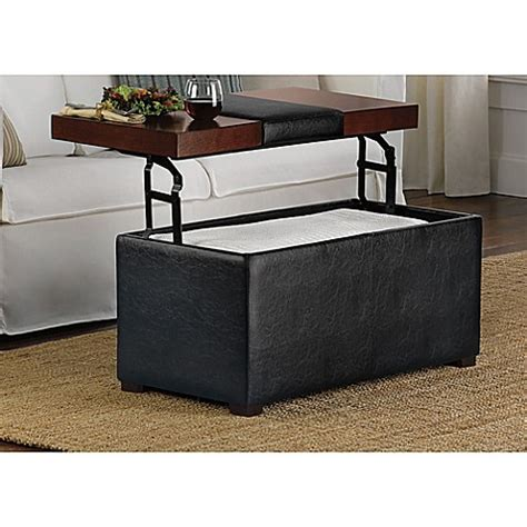 Lift Top Ottoman Buy Arlington Lift Top Storage Ottoman From Bed Bath Beyond