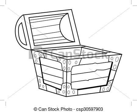lada da disegno vendemmia scrigno illustrazione contorno
