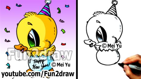 how to draw a new year drawing lesson how to draw a duck happy new year