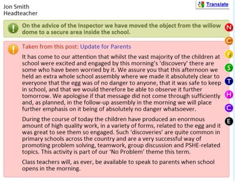 Apology Letter To Headteacher hollynolly apologises to parents after egg