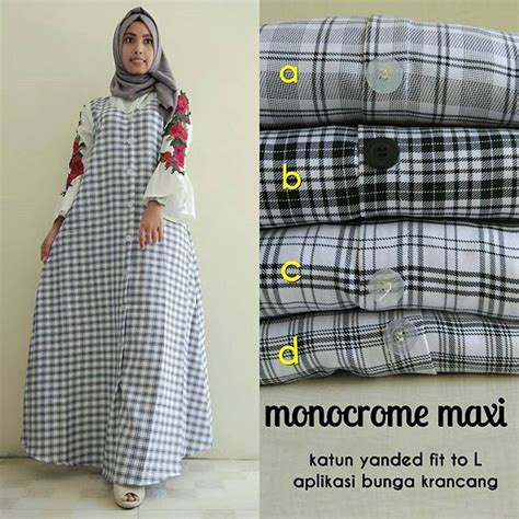 Misby Maxi by Ready Monocrome Maxi 145 Ld90 Pj136 Supplier Baju