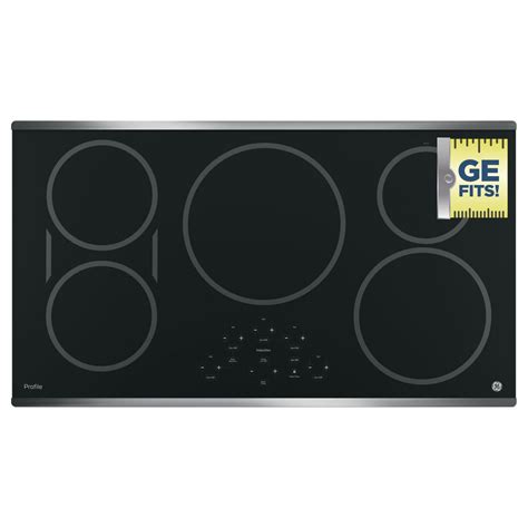 ge profile electric cooktop 36 ge profile 36 in electric smooth induction cooktop in