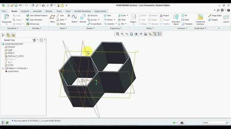 solidworks tutorial honeycomb how to model an sandwich element honey comb structure