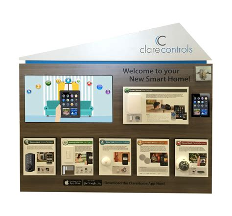clare controls smart home demonstration kiosk