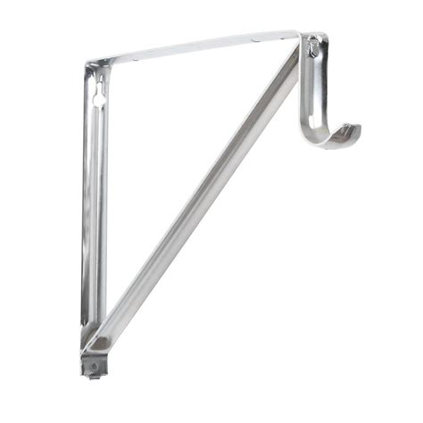 4 Inch Shelf Brackets by Everbilt Everbilt 10 3 4 Inch Chrome Shelf And Rod Bracket