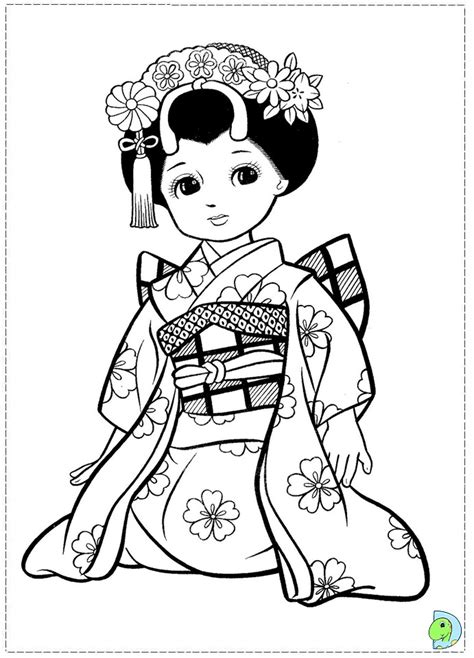 coloring pages japanese free coloring pages of kokeshi dolls