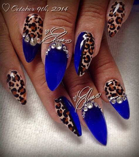 leopard pattern nail art 50 stylish leopard and cheetah nail designs for creative