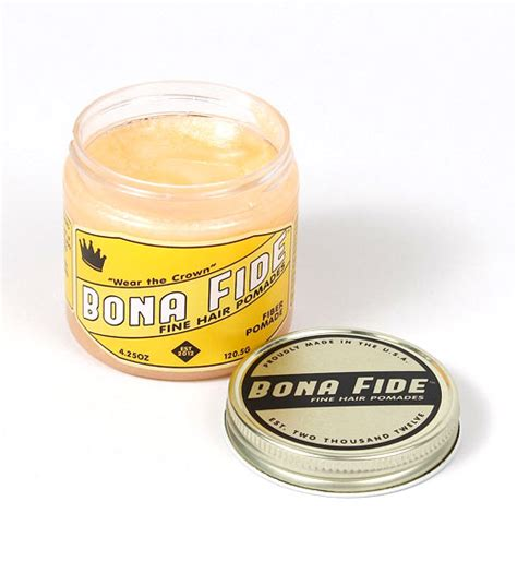 Bonafide Fiber Pomade Water Based bona fide made in usa hair fiber pomade 113g