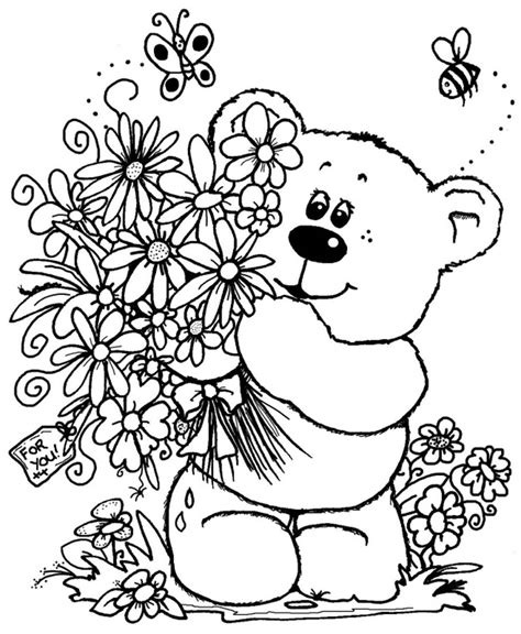 coloring pages of bouquet of flowers bouquet of flowers coloring pages for childrens printable