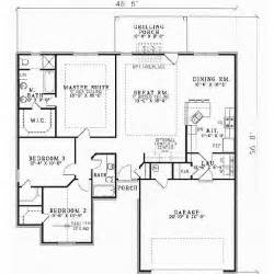 ranch style house plans 1574 square foot home 1 story