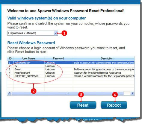 windows reset my password how to recover lost windows 7 vista and xp admin password