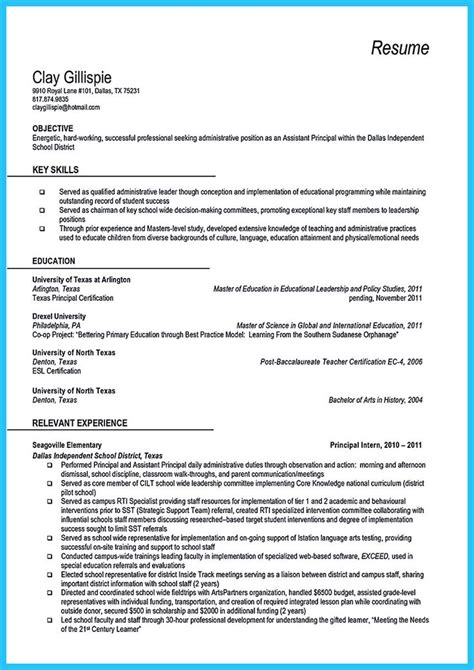 Assistant Principal Resume by At The Beginning Part Of Assistant Principal Resume You