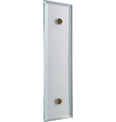 Plate Glass Door Tucker Beveled Clear Glass Push Plate Tempered Glass Brass Screws Rebuilding Project