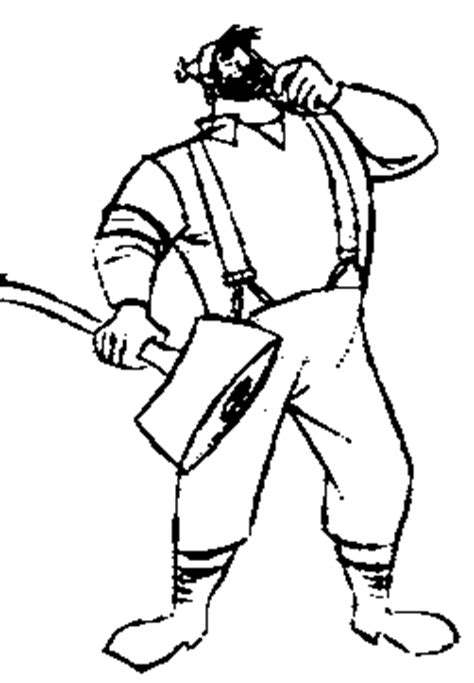 Toon Doctor 174 Flash Animation Cartoons Paul Bunyan Coloring Page