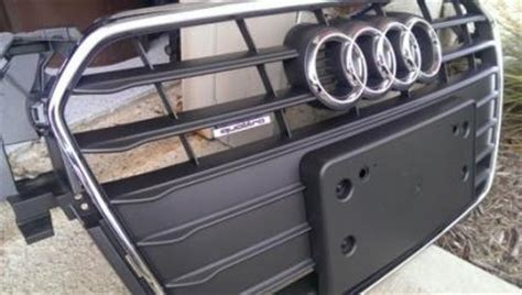 audi q7 front license plate holder selling brand new 2013 audi a4 front grill with license