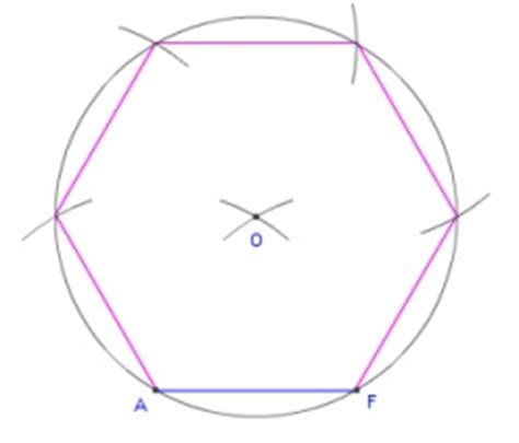 hexagon, given one side geometry construction using a