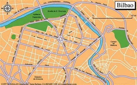 map of spain bilbao bilbao spain map images