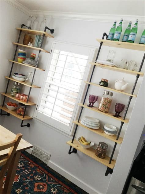decorating shelves in the dining room celebrations at home dining room pipe shelving tutorial