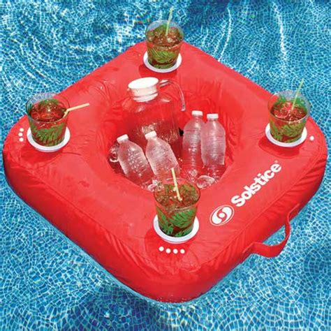 sunsoft inflatable pool drink caddy