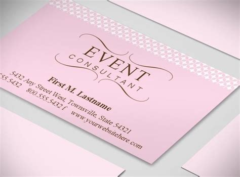 event post card template wedding planner business cards event coordinator