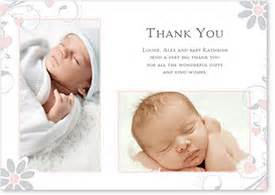 baby thank you cards with free uk delivery