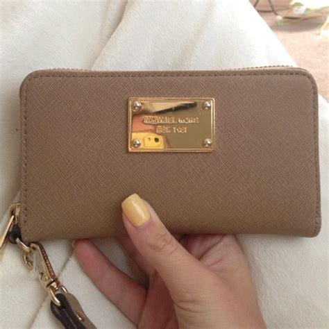 light brown mk purse 13 off michael kors clutches wallets authentic mk