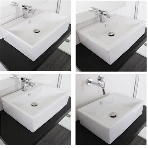rubinetti per lavabi da appoggio lavabo da appoggio rettangolare 57x45 58x45 53x41 51x36 in