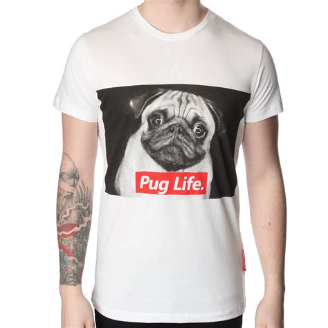 pug t shirt criminal damage pug t shirt criminal damage from the menswear site uk