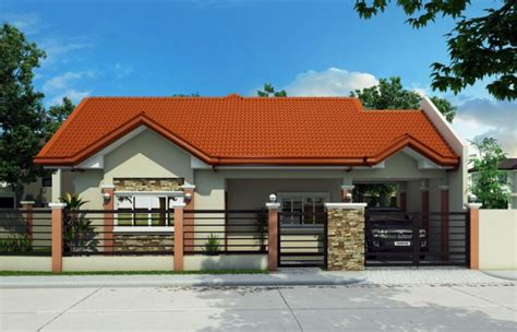 Low Cost Duplex Living Rooms Design Philippines Single Story House Plan Floor Area 134 Square Meters
