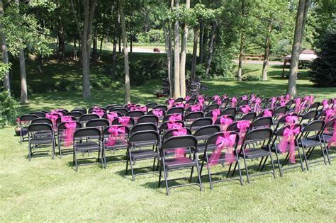 Decorate Metal Folding Chairs by Ordinary Folding Chairs Dressed Up With Pink Tulle