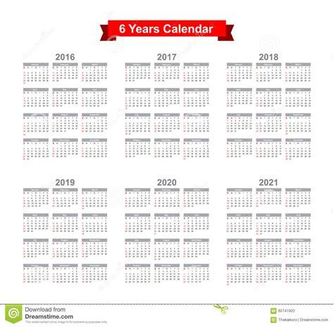 On2021 Black 2016 2021 calendar black text on a white background stock vector illustration of november