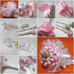 how to make floral arrangements step by step how to make ribbon and lace candy bouquet step by step diy tutorial instructions how to how to