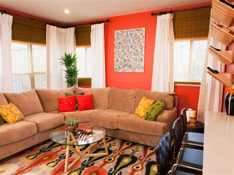 orange livingroom photo page hgtv
