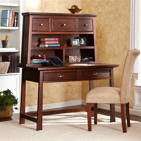 Furniture Rustic Secretary Desk With Hutch Glass Door And Hutch Desk