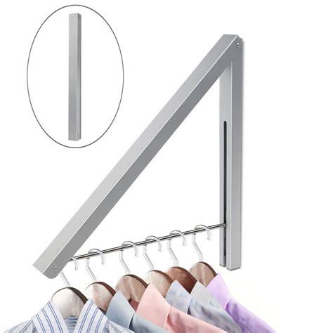 kleiderstange wand clothes rack hangers folding coat hanger space saving easy
