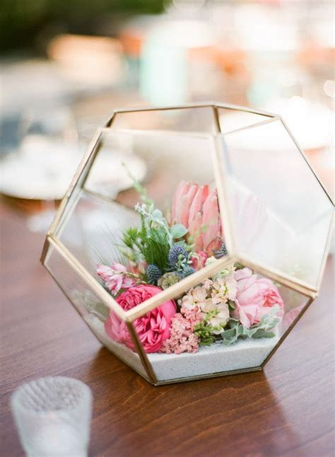 simple table decorations to make 50 glam geometric terrarium wedding ideas terrarium