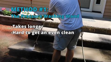how to clean a patio with a pressure washer how to clean patio pavers surface cleaner vs pressure