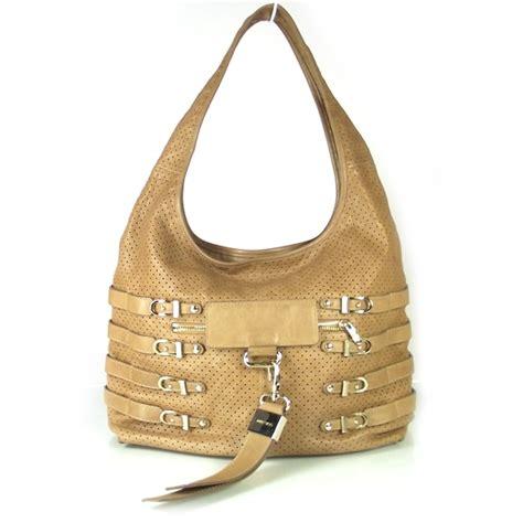Jimmy Choo Rikki Perforated Handbag by Jimmy Choo Leather Perforated Bardia Shoulder Bag 18938