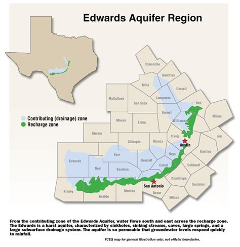 aquifer map texas city of watersheds map watersheds and the edwards aquifer big engineering