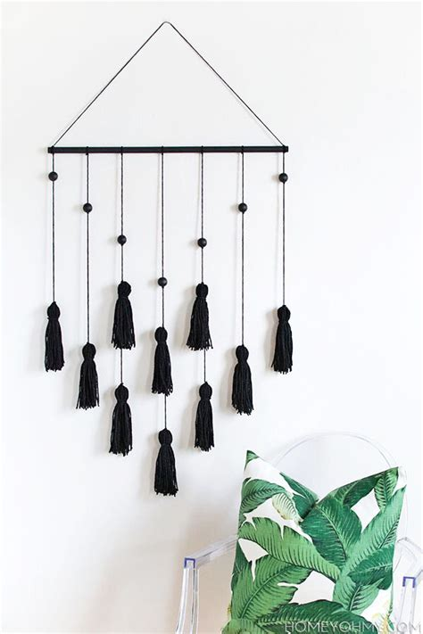wall hanging design diy modern tassel wall hanging homey oh my bloglovin