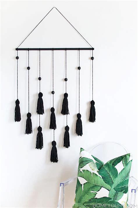 home decor wall hangings diy modern tassel wall hanging homey oh my